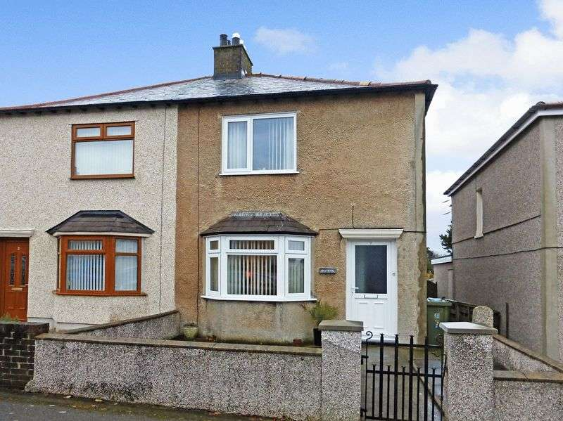 2 Bedrooms Semi Detached House for sale in Caernarfon