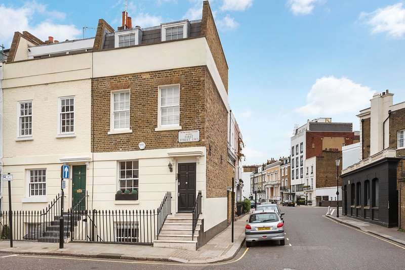 3 Bedrooms End Of Terrace House for sale in First Street, London, SW3