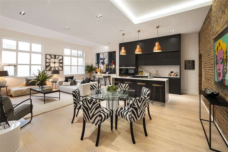 2 Bedrooms Flat for sale in Mandeville Courtyard, Warriner Gardens, London, SW11