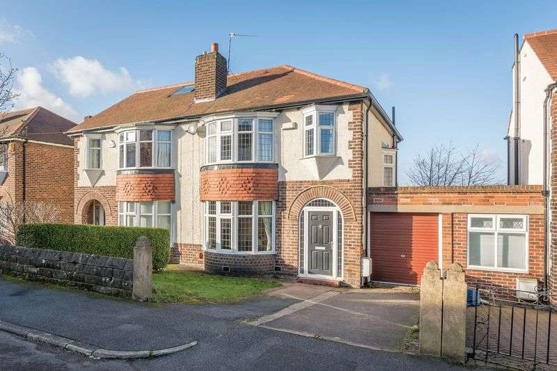 3 Bedrooms Semi Detached House for sale in Vernon Delph, Crosspool, Sheffield, S10 5NS