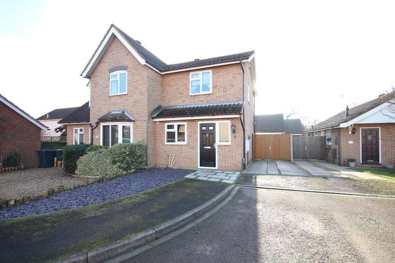 2 Bedrooms Semi Detached House for sale in Hawthorn Close, Ampthill, Bedford, MK45
