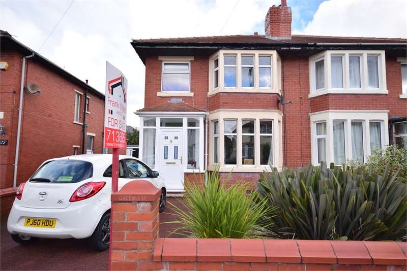 3 Bedrooms Semi Detached House for sale in Lawrence Avenue, Lytham St Annes, FY8