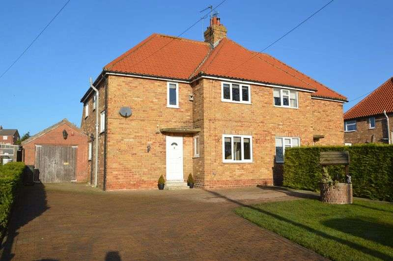 3 Bedrooms Semi Detached House for sale in West Lutton, Near Malton