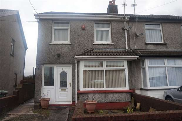 3 Bedrooms Semi Detached House for sale in Waunborfa Road, Cefn Fforest, BLACKWOOD, Caerphilly