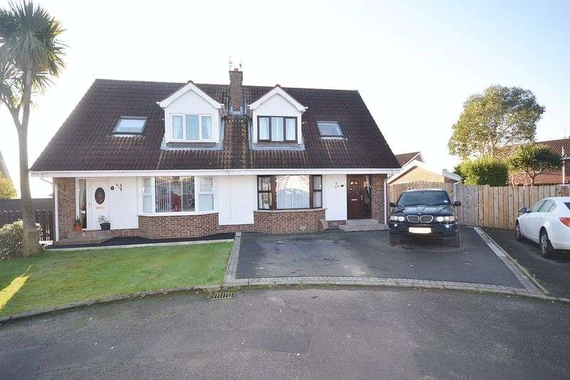 3 Bedrooms Semi Detached House for sale in Hillview Court, Carrickfergus