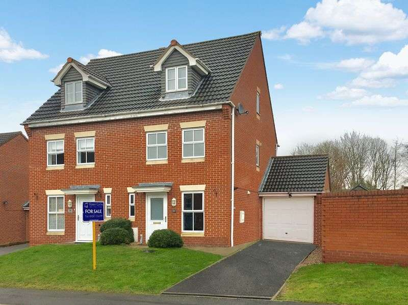 3 Bedrooms Semi Detached House for sale in Frank Bodicote Way, Swadlincote