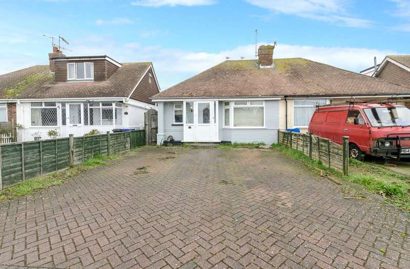 2 Bedrooms Semi Detached Bungalow for sale in Bristol Avenue, Lancing, West Sussex, BN15