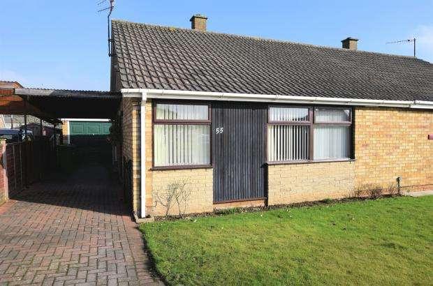 2 Bedrooms Semi Detached Bungalow for sale in Byward Drive, Crossgates, Scarborough, North Yorkshire YO12 4JG