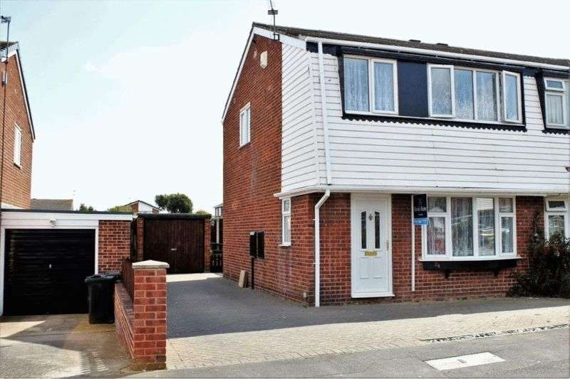 3 Bedrooms Semi Detached House for sale in Farringdon Drive, New Rossington