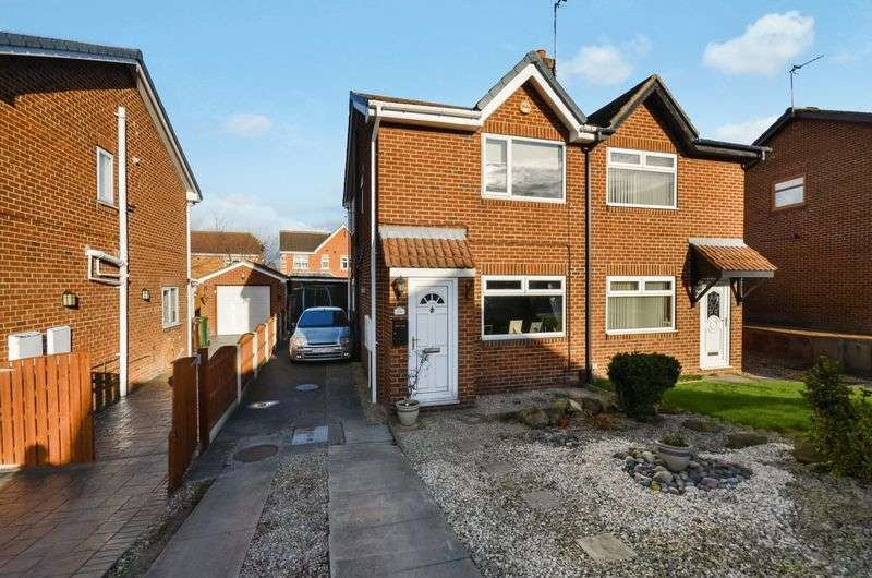 3 Bedrooms Semi Detached House for sale in 16 Meadow Brook Close, Normanton, WF6 1TG