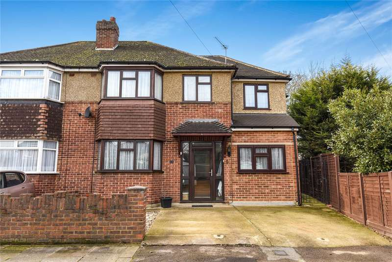4 Bedrooms Semi Detached House for sale in Perry Close, Uxbridge, Middlesex, UB8