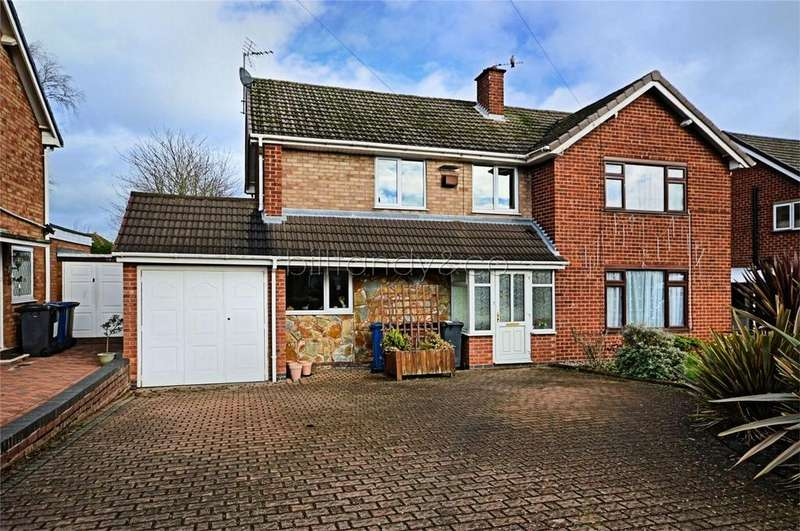 3 Bedrooms Semi Detached House for sale in Nailers Drive, Burntwood, Staffordshire
