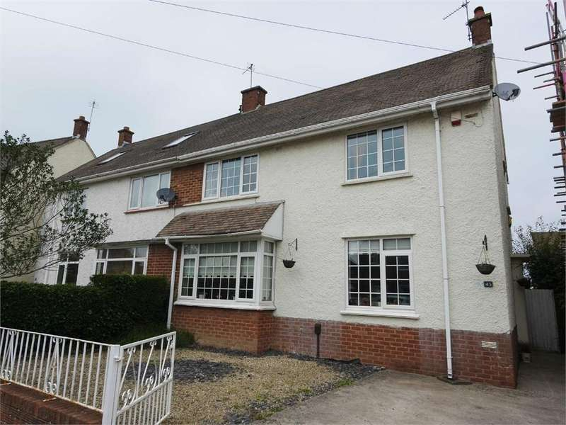 4 Bedrooms Semi Detached House for sale in Masefield Road, Penarth