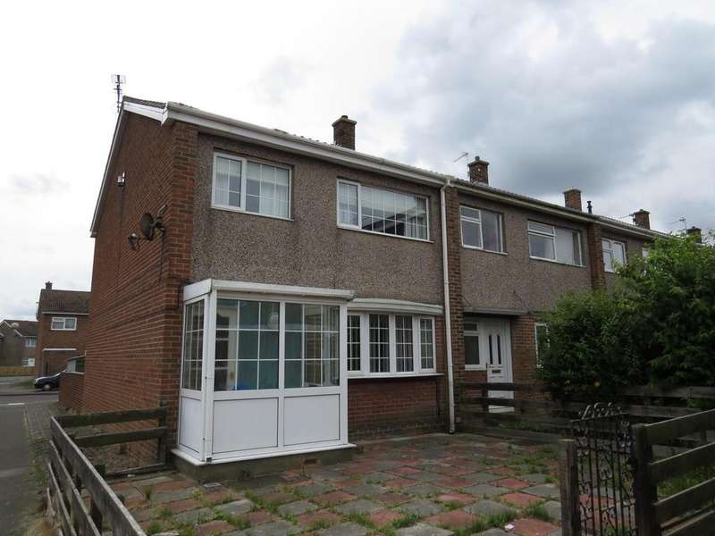 3 Bedrooms End Of Terrace House for sale in Norwich Close, North Seaton, Ashington