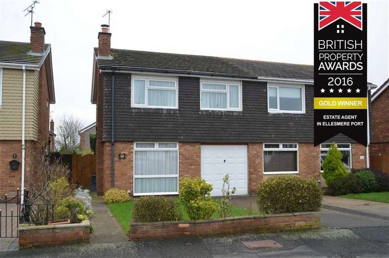 3 Bedrooms Semi Detached House for sale in Ellerton Avenue, Little Sutton, CH66