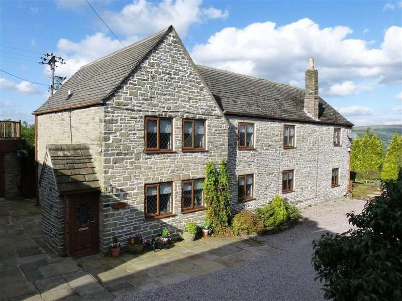 5 Bedrooms Detached House for sale in Hargate Hill, Charlesworth, Glossop