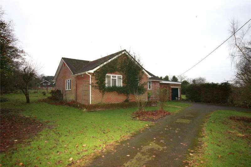 4 Bedrooms Detached Bungalow for sale in Flexford Lane, Sway, Lymington, Hampshire, SO41