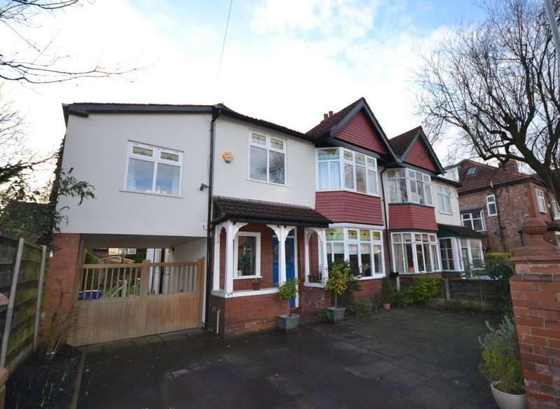 5 Bedrooms Semi Detached House for sale in Sandileigh Avenue, West Didsbury