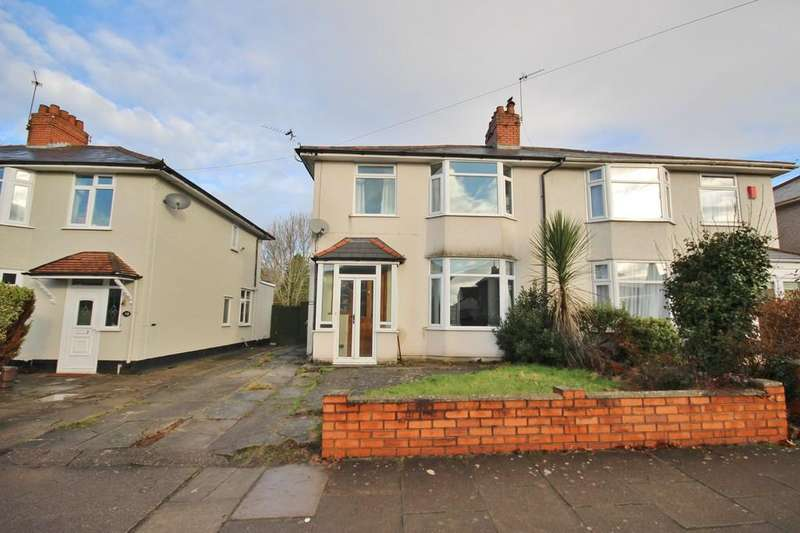 3 Bedrooms Semi Detached House for sale in Ty Wern Road, Rhiwbina, Cardiff