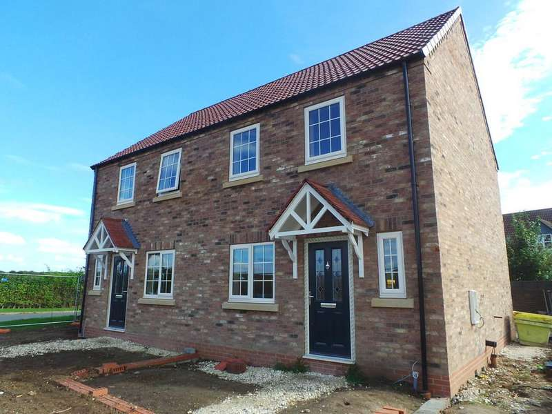 3 Bedrooms Semi Detached House for sale in Meadow Rise, Irwin Road, Blyton, Gainsborough