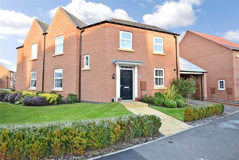 3 Bedrooms Semi Detached House for sale in Slatewalk Way, Glenfield