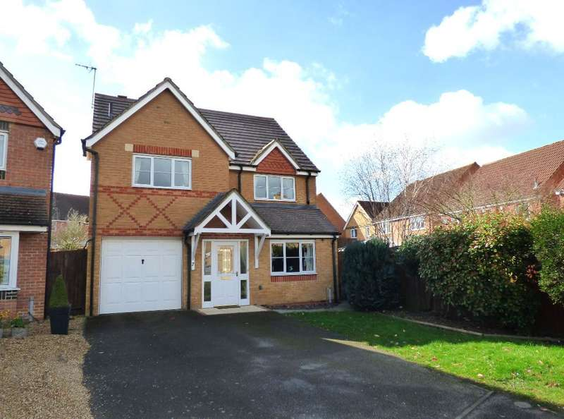 4 Bedrooms Detached House for sale in Louth Drive, Rushden, Northamptonshire, NN10 0YH