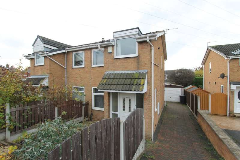 3 Bedrooms Semi Detached House for sale in Cloverlands Drive, Staincross, Barnsley, S75 6EB