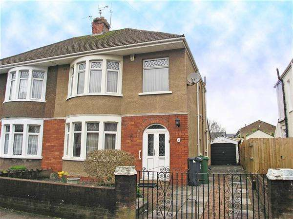 3 Bedrooms Semi Detached House for sale in Arles Road, Cardiff
