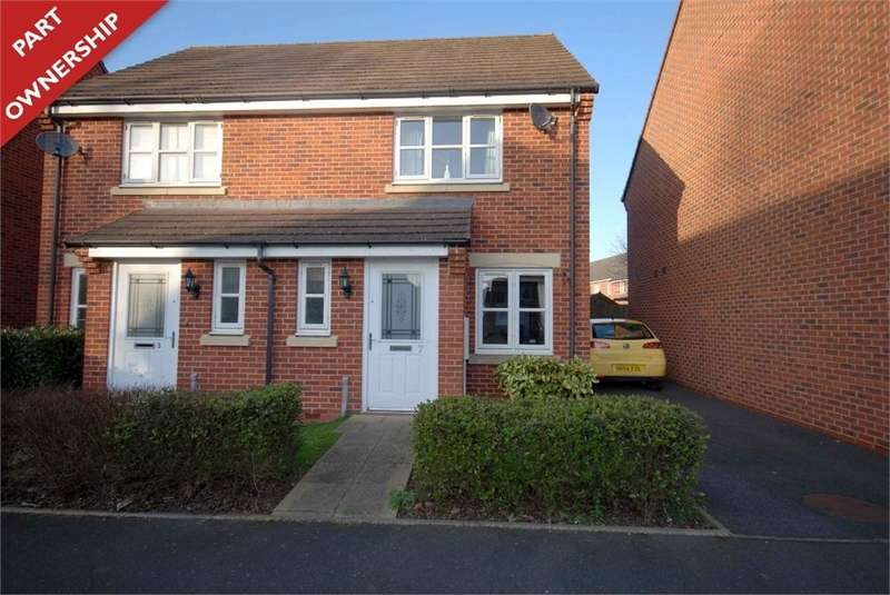 2 Bedrooms Semi Detached House for sale in Hopps Lodge Drive, RUGBY, Warwickshire