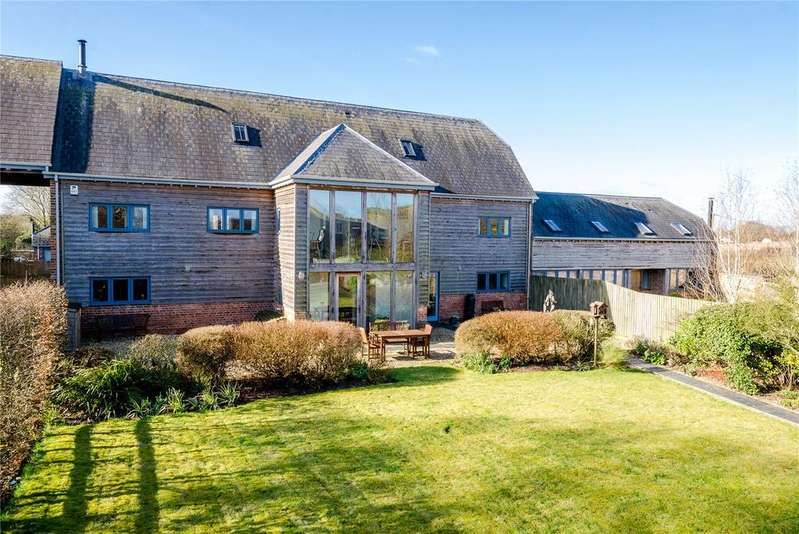 5 Bedrooms Semi Detached House for sale in West Farm Barns, Knook, Warminster, Wiltshire, BA12