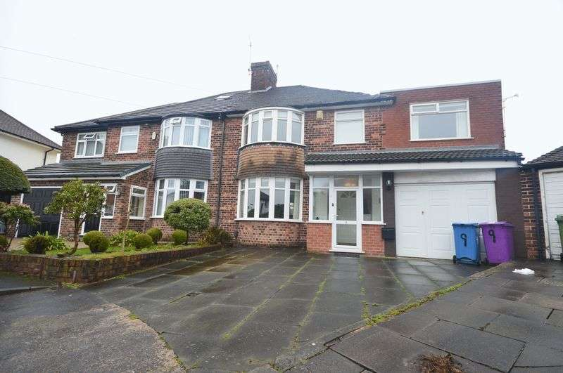 5 Bedrooms Semi Detached House for sale in Williton Road, Childwall