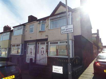 3 Bedrooms End Of Terrace House for sale in Saville Road, Liverpool, Merseyside, England, L13