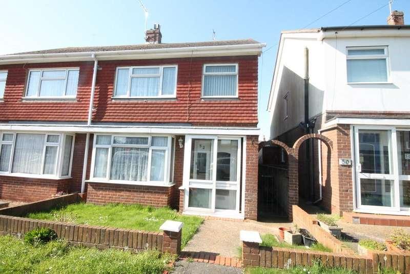 3 Bedrooms Semi Detached House for sale in Roman Way, Southwick, BN42 4TN
