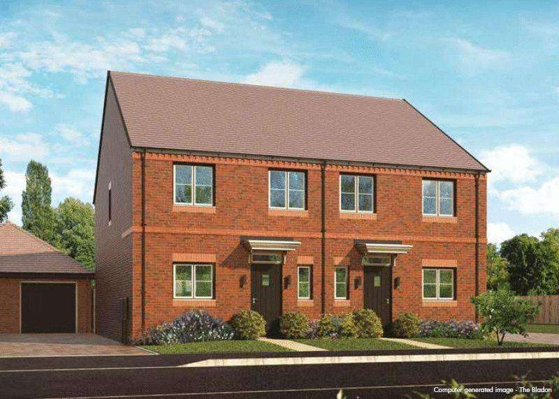 3 Bedrooms Semi Detached House for sale in Plot 121, The Bladon, Oakwood Gate, Bampton