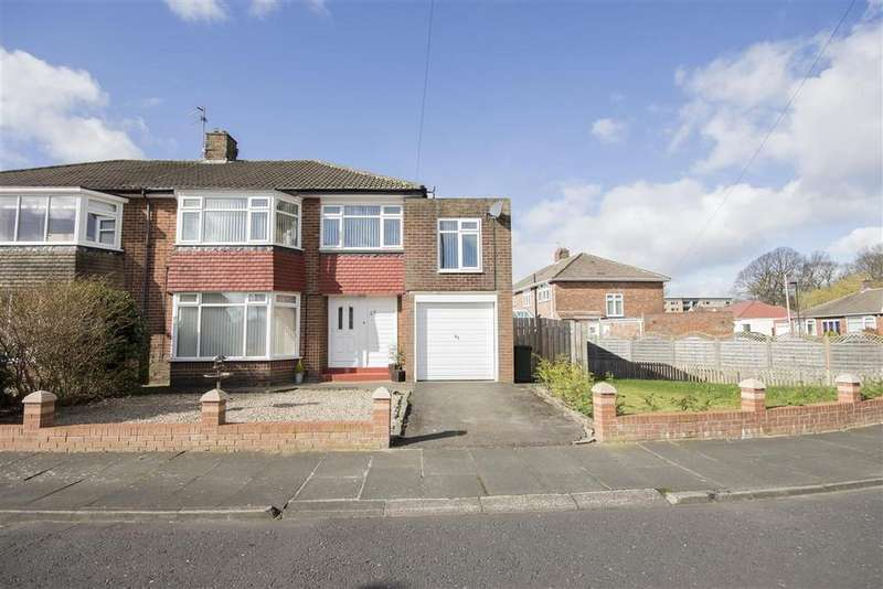 4 Bedrooms Semi Detached House for sale in 55 Glamis Avenue, Melton Park, Gosforth, Newcastle upon Tyne NE3