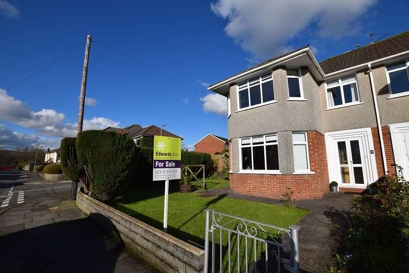 3 Bedrooms Semi Detached House for sale in Mavis Grove, Rhiwbina, Cardiff. CF14 4SA