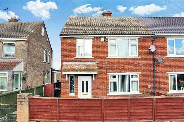 3 Bedrooms Semi Detached House for sale in Hesley Road, New Rossington, Doncaster, South Yorkshire