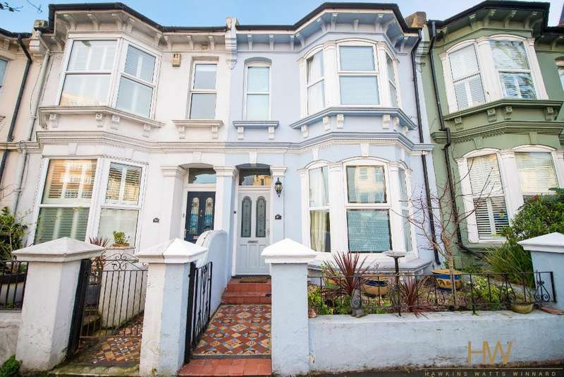 3 Bedrooms Terraced House for sale in Sackville Road, Hove, East Sussex, BN3 3HE