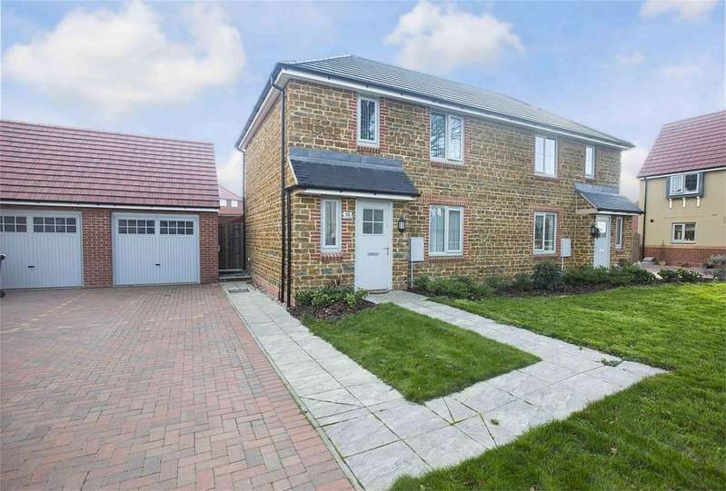 2 Bedrooms Semi Detached House for sale in Kestrel Road, Corby, Northamptonshire