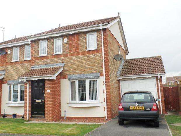 3 Bedrooms Semi Detached House for sale in WELLBURN CLOSE, SHOTTON, PETERLEE AREA VILLAGES