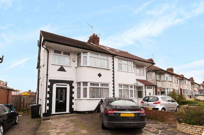 4 Bedrooms Semi Detached House for sale in Alderney Gardens, Northolt