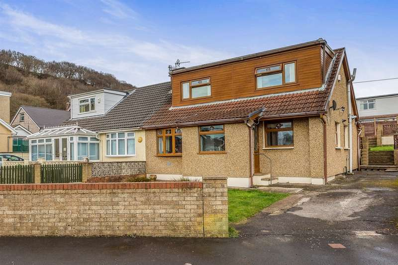 4 Bedrooms Semi Detached House for sale in Whiterock Avenue, Pontypridd