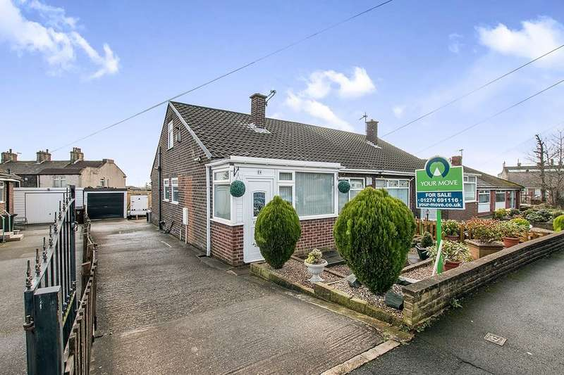 2 Bedrooms Semi Detached Bungalow for sale in Lowfield Close, Low Moor, Bradford, BD12