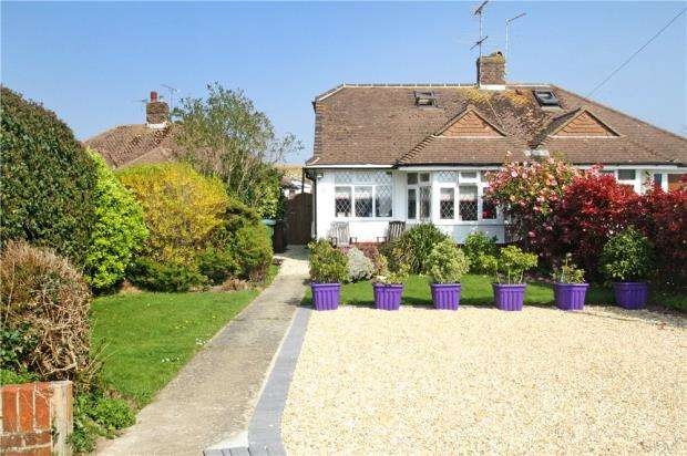 2 Bedrooms Semi Detached Bungalow for sale in Chaucer Avenue, Rustington, West Sussex, BN16