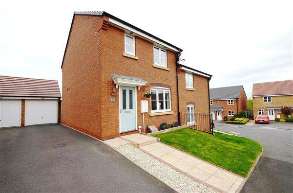 3 Bedrooms Semi Detached House for sale in Canary Grove, Wolstanton, Newcastle