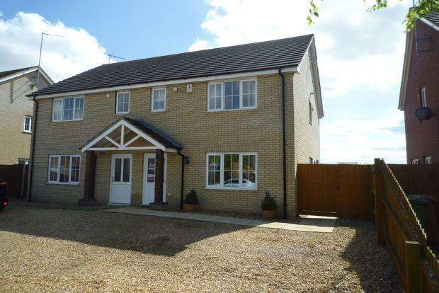 3 Bedrooms Semi Detached House for sale in Station Avenue, Murrow, Wisbech, PE13