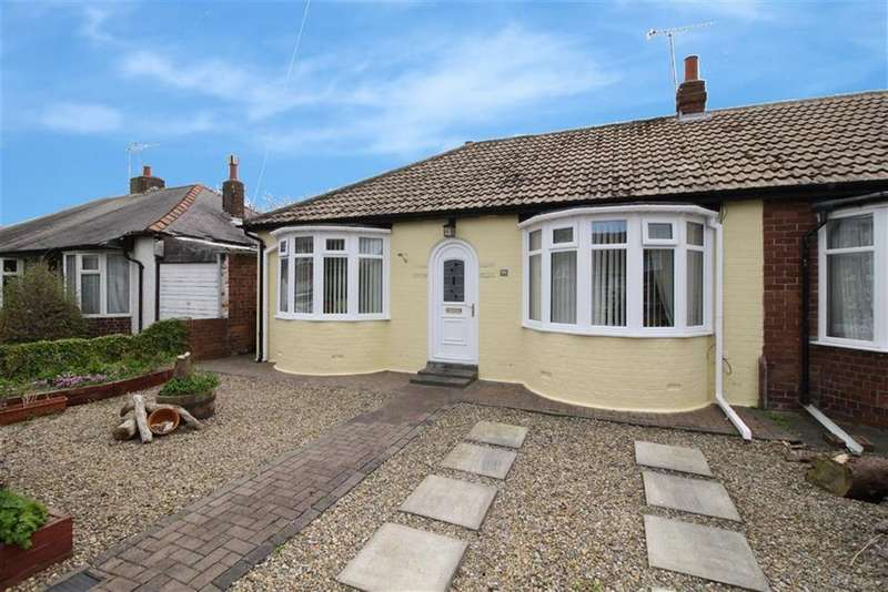 2 Bedrooms Semi Detached Bungalow for sale in Monks Avenue, Whitley Bay, Tyne Wear