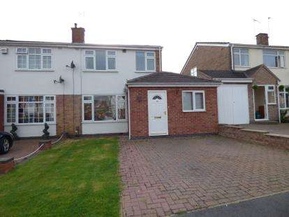 3 Bedrooms Semi Detached House for sale in Morse Road, Whitnash, Leamington Spa