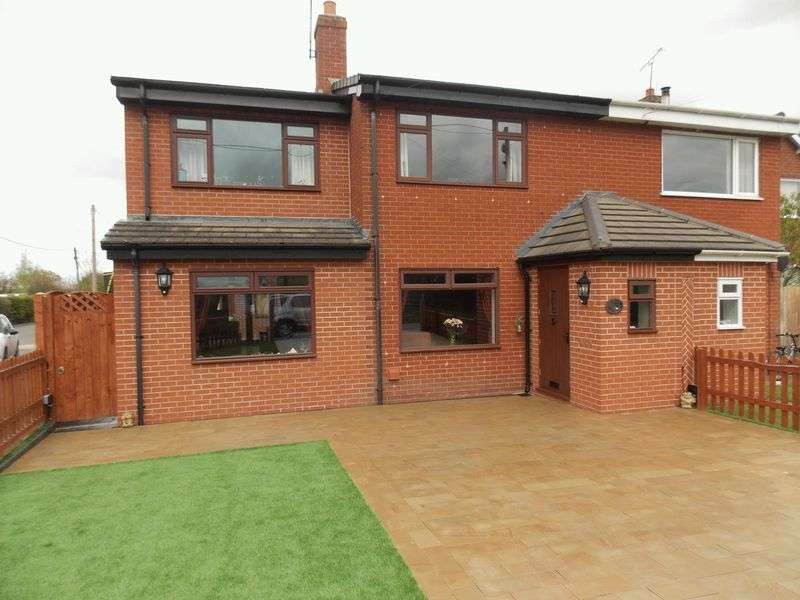 4 Bedrooms Semi Detached House for sale in Harwoods Lane, Rossett, Wrexham