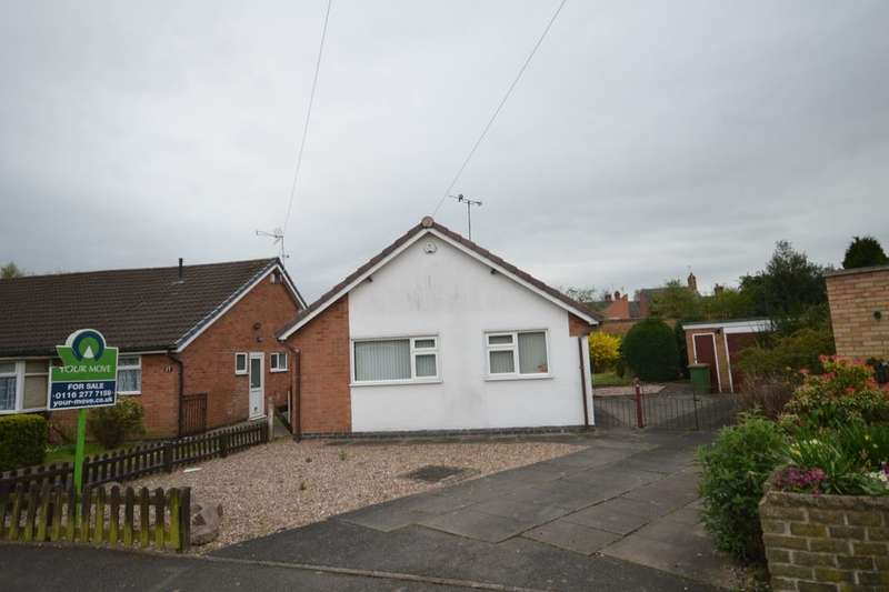 2 Bedrooms Detached Bungalow for sale in Lavender Close, Blaby, Leicester, LE8